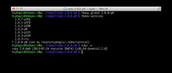 rbenv global 2.0.0-p0rbenv versions ruby -v